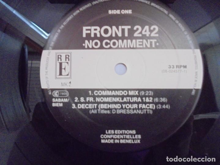 Discos de vinilo: FRONT 242. NO COMMENT. DISCOGRAFICA R R E. LP VINILO. VER FOTOGRAFIAS ADJUNTAS - Foto 6 - 222544072