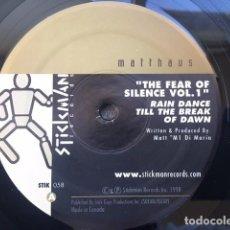 Discos de vinilo: MATTHAUS . THE FEAR OF SILENCE VOL.1. EDICIÓN DE CANADA . AÑO 1998. Lote 222544138