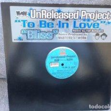 Discos de vinilo: UNRELEASED PROJECT . TO BE IN LOVE Y BLISS . EDICIÓN AMERICANA DEL 2000. Lote 222546627