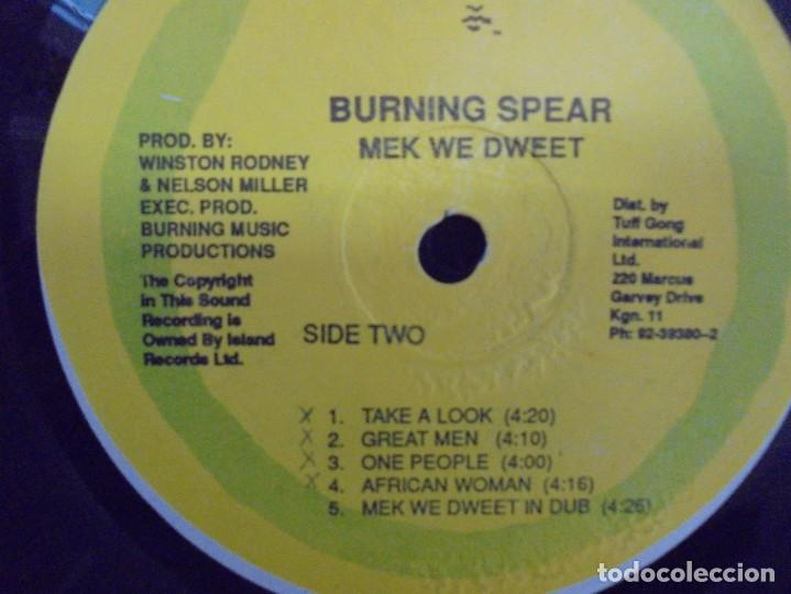 Discos de vinilo: BURNING SPEAR. MEK WE DWEET. LP VINILO. DISCOGRAFIA ISLAND RECORDS MANGO 1980. - Foto 6 - 222548693