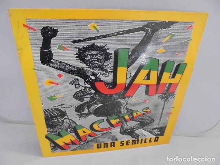 JAH MACETAS. UNA SEMILLA. LP VINILO. EUROPA COMPACT. 1988. VER FOTOGRAFIAS ADJUNTAS (Música - Discos - LP Vinilo - Reggae - Ska)