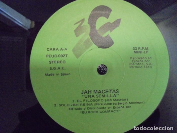 Discos de vinilo: JAH MACETAS. UNA SEMILLA. LP VINILO. EUROPA COMPACT. 1988. VER FOTOGRAFIAS ADJUNTAS - Foto 6 - 222550205