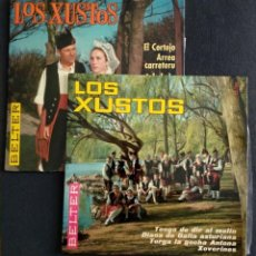 Discos de vinilo: LOTE SINGLES MÚSICA REGIONAL (NUEVOS) - LOS XUSTOS - AGRUPACIÓN FOLKLÓRICA ASTURIANA -. Lote 222558048