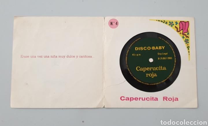 Discos de vinilo: LOTE 3 DISCOS FLEXI COLECCION DISCO-BABY DAF 1965 Pulgarcito, Caperucita Roja La Bella Durmiente - Foto 5 - 222559033