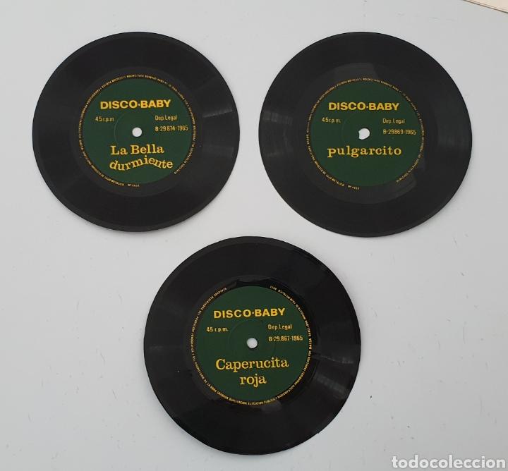 Discos de vinilo: LOTE 3 DISCOS FLEXI COLECCION DISCO-BABY DAF 1965 Pulgarcito, Caperucita Roja La Bella Durmiente - Foto 6 - 222559033