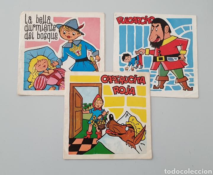 LOTE 3 DISCOS FLEXI COLECCION DISCO-BABY DAF 1965 PULGARCITO, CAPERUCITA ROJA LA BELLA DURMIENTE (Música - Discos - Singles Vinilo - Música Infantil)