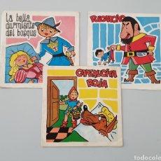 Discos de vinilo: LOTE 3 DISCOS FLEXI COLECCION DISCO-BABY DAF 1965 PULGARCITO, CAPERUCITA ROJA LA BELLA DURMIENTE. Lote 222559033