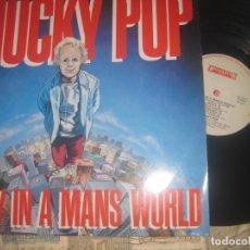 Discos de vinilo: MUCKY PUP - A BOY IN A MANS WORLD (ROADDRACER1989 )OG HOLANDA HARDCORE EXCELENTE CONDICION. Lote 222559585