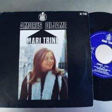 Discos de vinilo: MARI TRINI-SINGLE AMORES. Lote 222559652