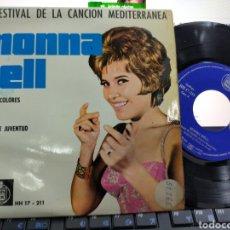 Discos de vinilo: MONNA BELL EP NUBES DE COLORES + 3 1962. Lote 222561355