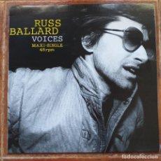Discos de vinilo: RUSS BALLARD - VOICES (MX) 1991. Lote 222566043