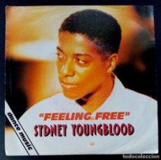 Discos de vinilo: SYDNEY YOUNGBLOOD - FEELING FREE - SINGLE PROMOCIONAL 1990 - VIRGIN. Lote 222571302