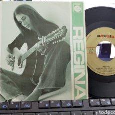 Discos de vinilo: REGINA SINGLE PROMOCIONAL POR UNA SOLA CARA REGINA 1976 EN PERFECTO ESTADO. Lote 222573608
