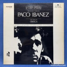 Discos de vinilo: LP - VINILO PACO IBAÑEZ - LA POESIA ESPAÑOLA DE AHORA Y DE SIEMPRE - TRIPLE PORTADA - ESPAÑA - 1975. Lote 222573912