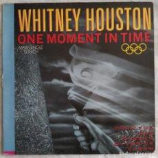 "Discos de vinilo: WHITNEY HOUSTON - ONE MOMENT IN TIME (12"", MAXI) (ARISTA) (1988/ES). Lote 222576556"