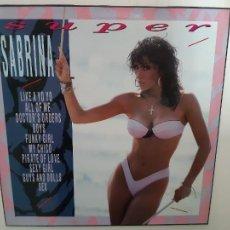 Discos de vinilo: SABRINA- SUPER SABRINA- SPAIN LP 1989 + ENCARTE- VINILO COMO NUEVO.. Lote 222577752