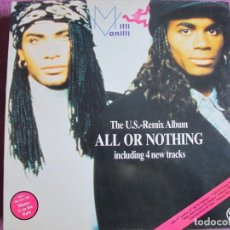 Discos de vinilo: LP - MILLI VANILLI - ALL OR NOTHING (SPAIN, ARIOLA 1989, PORTADA DOBLE). Lote 222579833