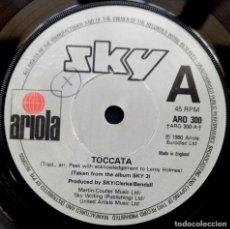 Discos de vinilo: SKY - TOCCATA / VIVALDI - SINGLE UK 1980 - ARIOLA. Lote 222582016
