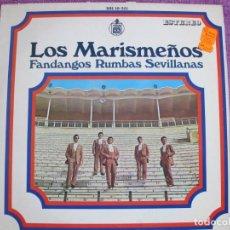 Discos de vinilo: LP - LOS MARISMEÑOS - FANDANGOS, RUMBAS Y SEVILLANAS (SPAIN, HISPAVOX 1969). Lote 222583547