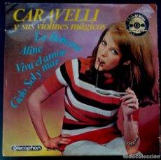 Discos de vinilo: CARAVELLI Y SUS VIOLINES MAGICOS - LA BOHEME - EP 1966 - DISCOPHON. Lote 222585168