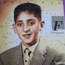 Discos de vinilo: LP - FRANCO BATTIATO - FISIOGNOMICA (SPAIN, EMI RECORDS 1988, PORTADA DOBLE). Lote 222585952