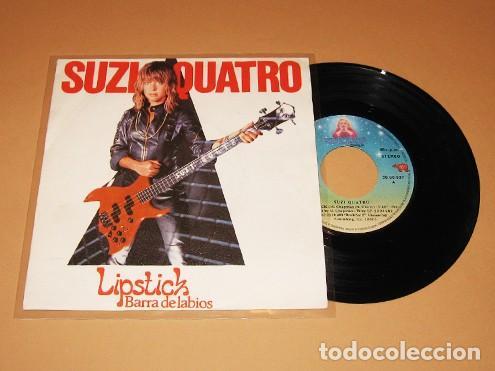 SUZI QUATRO - LIPSTICK (BARRA DE LABIOS) - SINGLE - 1981 (Música - Discos de Vinilo - Singles - Pop - Rock Extranjero de los 80)