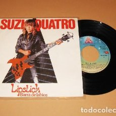 Discos de vinilo: SUZI QUATRO - LIPSTICK (BARRA DE LABIOS) - SINGLE - 1981. Lote 222591883