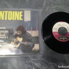 Discos de vinilo: ANTOINE – LA GUERRE. Lote 222592510