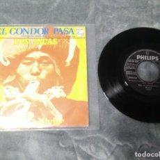 Discos de vinilo: LOS INCAS – EL CONDOR PASA. Lote 222594648