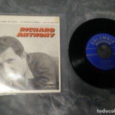 Discos de vinilo: RICHARD ANTHONY – CE MONDE , PAS COMME LES AUTRES. Lote 222595785
