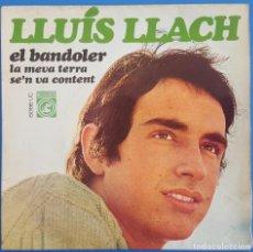 Discos de vinilo: EP / LLUIS LLACH / EL BANDOLER - LA MEVA TERRA - SE'N VA CONTENT / CONCENTRIC 6.066-UC / 1968. Lote 222598307