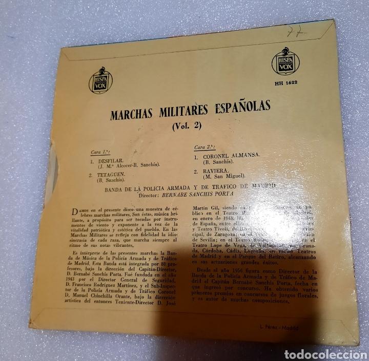 Discos de vinilo: Marchas militares españolas. Por la banda de la Policia Armada de Tráfico de Madrid - Foto 2 - 222600841