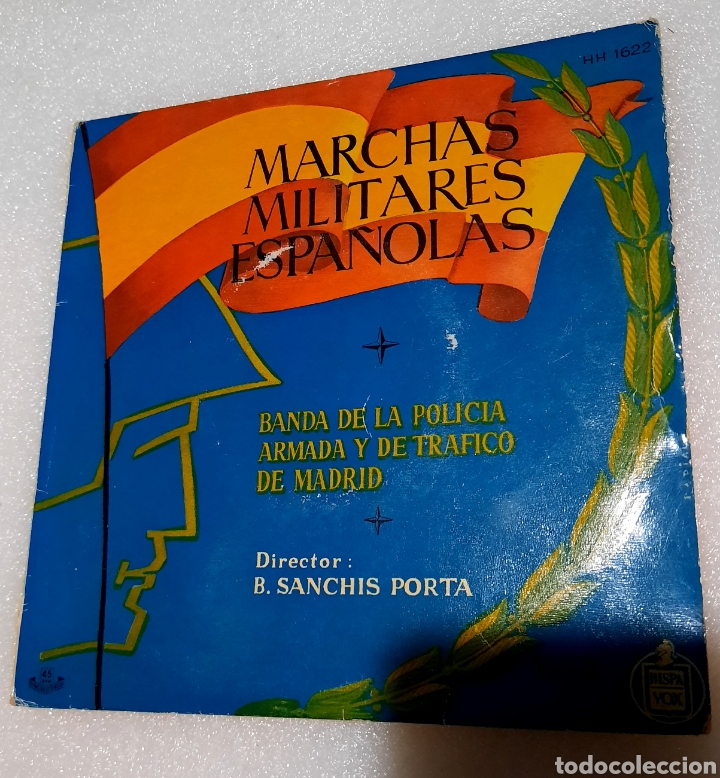 MARCHAS MILITARES ESPAÑOLAS. POR LA BANDA DE LA POLICIA ARMADA DE TRÁFICO DE MADRID (Música - Discos de Vinilo - EPs - Clásica, Ópera, Zarzuela y Marchas)