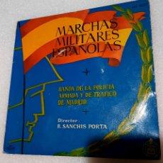 Discos de vinilo: MARCHAS MILITARES ESPAÑOLAS. POR LA BANDA DE LA POLICIA ARMADA DE TRÁFICO DE MADRID. Lote 222600841