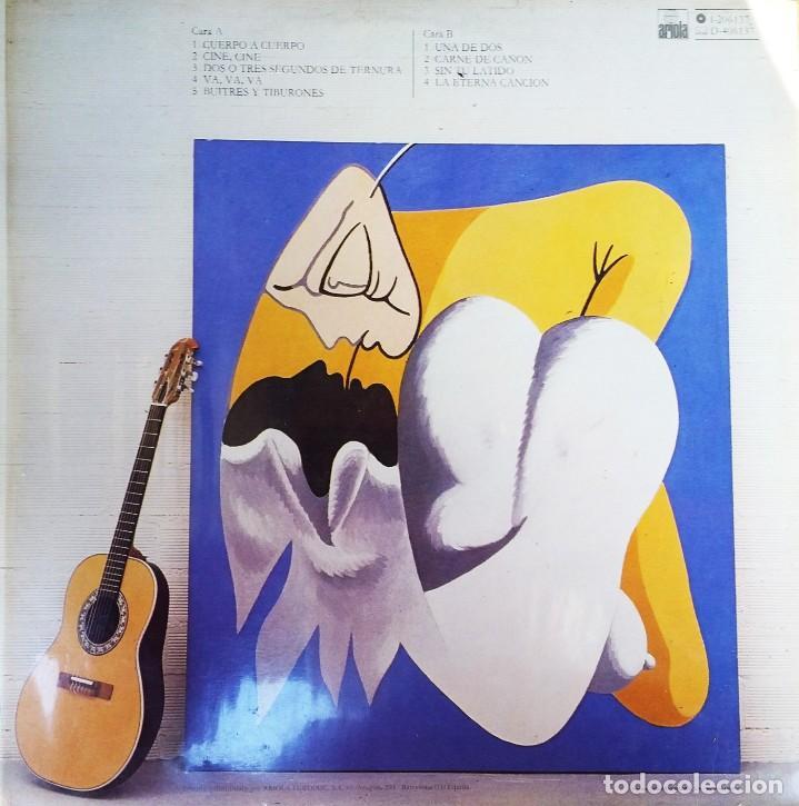 Discos de vinilo: Luis Eduardo Aute - Lp Cuerpo a cuerpo - Firmado - Foto 4 - 222604371
