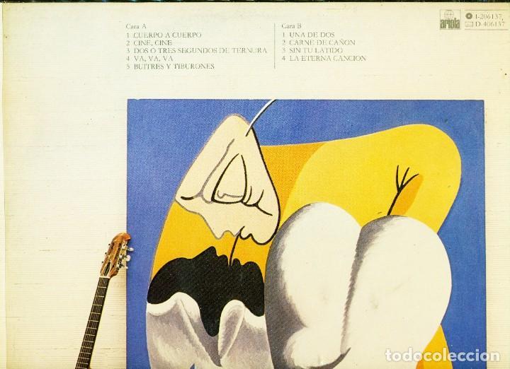 Discos de vinilo: Luis Eduardo Aute - Lp Cuerpo a cuerpo - Firmado - Foto 5 - 222604371