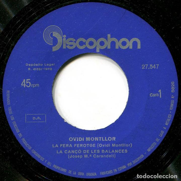 Discos de vinilo: Ovidi Montllor - La fera ferotge - Ep Spain 1968 - Discophon/Inici 27.547 - Foto 3 - 222610040