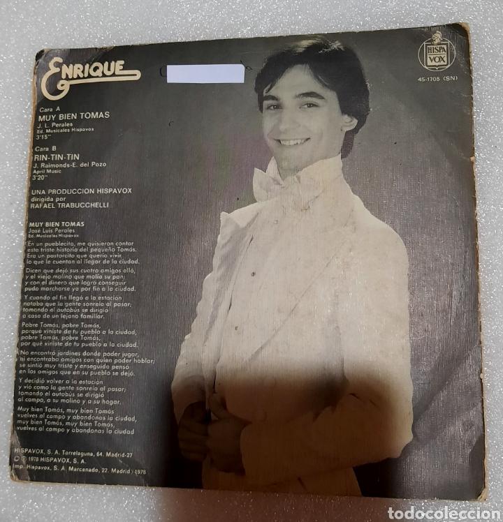 Discos de vinilo: Enrique - muy bien Tomas - Foto 2 - 222610723