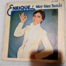 Discos de vinilo: ENRIQUE - MUY BIEN TOMAS. Lote 222610723