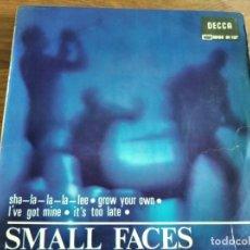 Discos de vinilo: SMALL FACES - GROW YOUR OWN + 3 *********** SUPER RARO EP ESPAÑOL MOD BEAT 1966. Lote 222610795