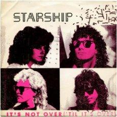 Discos de vinilo: STARSHIP - IT'S NOT OVER ('TIL IT'S OVER) - SG PROMO SPAIN 1987 - GRUNT FB49703 - JEFFERSON STARSHIP. Lote 222611227