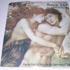 Discos de vinilo: BONNIE TYLER DUET WITH TODD RUNDGREN LOVING YOU'S A DIRTY JOB BUT SOMEBODY'S GOTTA DOLT. Lote 222614651