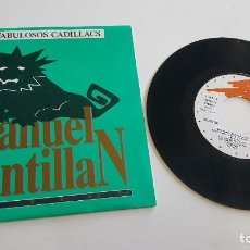 Discos de vinilo: LOS FABULOSOS CADILLACS SINGLE MANUEL SANTILLAN, EL LEON (DOS VERSIONES). MUY BUEN ESTADO. Lote 222624205