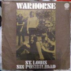 Discos de vinilo: WARHORSE - ST. LOUIS/SIN POSIBILIDAD. Lote 222624838