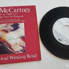 Discos de vinilo: PAUL MCCARTNEY SINGLE THE LONG AND WINDING ROAD (AMBAS CARAS). Lote 222624911
