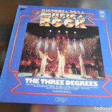 Discos de vinilo: HISTORIA DE LA MUSICA ROCK - THE THREE DEGREES 69 -, LP, ANOTHER HEARTACHE + 9, AÑO 1982. Lote 222625138
