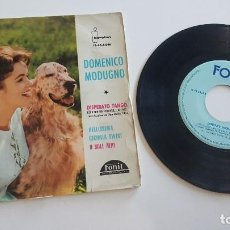 Discos de vinilo: DOMENICO MODUGNO SINGLE DISPERATO TANGO, Y TRES MÁS. Lote 222625325