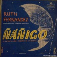 Discos de vinilo: RUTH FERNANDEZ - ÑÁÑIGO - MÚSICA AFROCUBANA EP. Lote 222628485