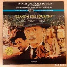 Discos de vinilo: LA VENGANZA DE MANON (MANON DES SOURCES) JEAN-CLAUDE PETIT RARO!!!. Lote 222631375