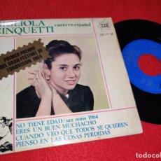Discos de vinilo: GIGLIOLA CINQUETTI NO TIENE EDAD/ERES UN BUEN MUCHACHO +2 EP 1964 CANTA ESPAÑOL SAN REMO EUROVISION. Lote 222648067